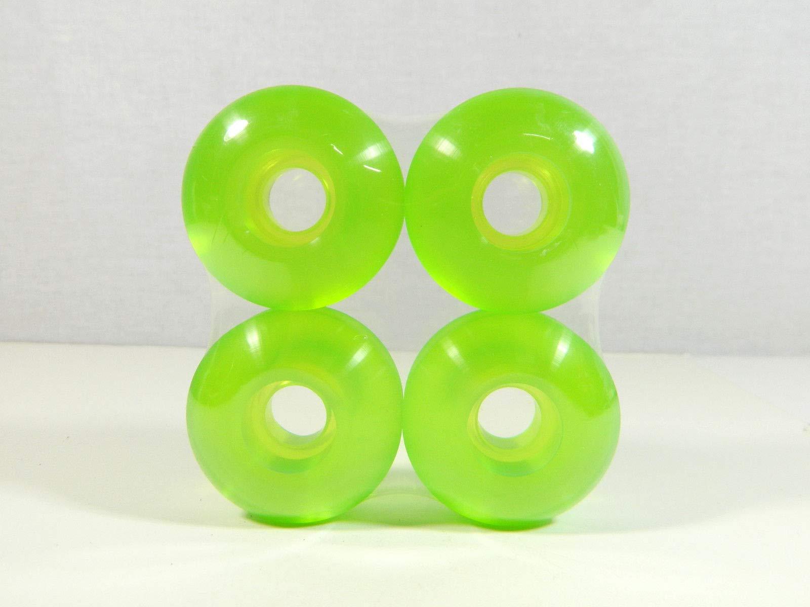Clear Green Blank 52Mm X 31Mm Pro Skateboard Wheels Multi Clear Color Sealed