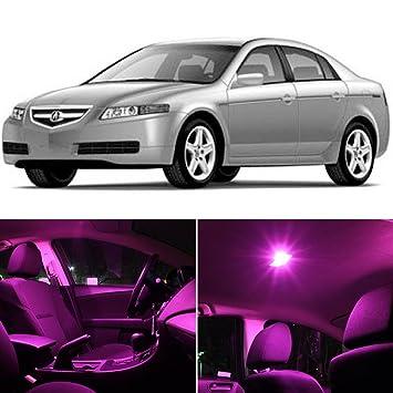 For Acura TSX 2004-2008 Pink LED Interior Kit Pink License Light LED