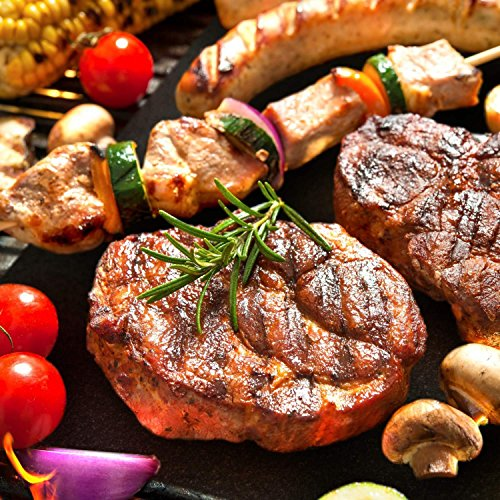 Barbecue mat (Set of 5), Grilldom and Reusable BBQ Grill Mat, Teflon Non-stick 0.2mm, 40x33cm by Grilldom (Image #3)