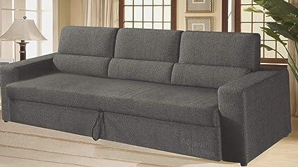 Miraculous Adorn Homez Mojo 3 Seater Sofa Cum Bed For Living Room Grey Creativecarmelina Interior Chair Design Creativecarmelinacom