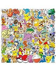 Pokemon Sticker Pack of 100 Stickers Pokemon Decals for Laptops Hydro Flasks Water Bottles Luggage Helmet