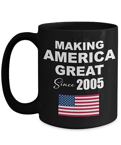 Amazon Making America Great Since 2005 Black Coffee Mug