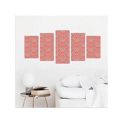 Amazon.com: Liguo88 Custom canvas Coral Decor Simple Gradient ...