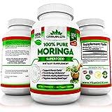Moringa Oleifera Premium Superfood by Vitamin Citi | 100% Natural | Extra Strength Formula | 800mg | Gluten Free 60 Veggie Capsules