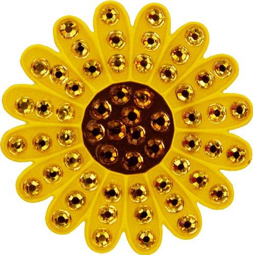 (Navika Sunflower Swarovski Crystal Ball Marker with Hat Clip (Yellow))
