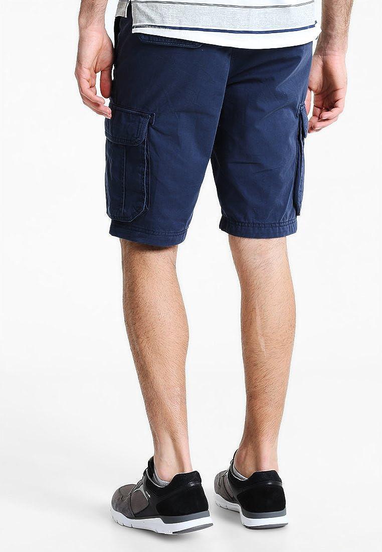 5a154d922a05f7 Navy oder Blau Pier One Herren Shorts in Schwarz Gesäßtaschen Bermuda Hose  mit Cargo-Taschen Seitentaschen ...
