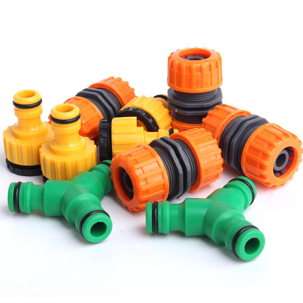Parts Connectors Home Garden Store Standie 10pcs Hose End Quick Connector Garden Hose Tap Connector Hose Pipe Connector Fits 1 2 Plastic For Gardening Green Washing