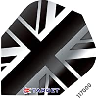 3 sets (9 flights) TARGET VISION UNION JACK BLACK DARTS FLIGHTS