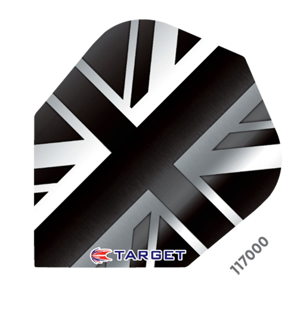 3 sets (9 flights) TARGET VISION UNION JACK BLACK DARTS FLIGHTS Pro 100