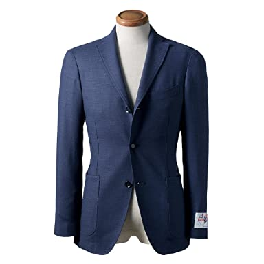 New Balloon Pattern Weave Wool Jacket BYJ-05: Navy