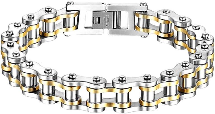 Pulsera Yongqxxkj, cadena de hombres de acero de titanio de la ...