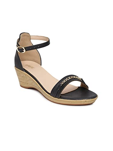 07b3e0a69302 Lavie Women Black Wedges (3UK)  Buy Online at Low Prices in India ...