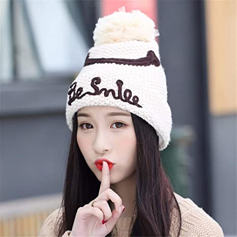 f4cc7fea1 Amazon.com: Gxinyanlong Women's Winter Smiles, Knitted caps, Knitted ...
