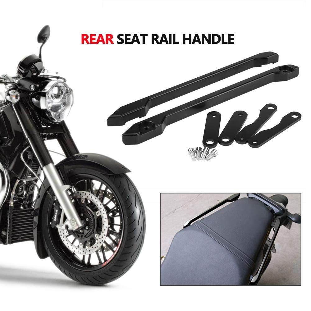 Kit de Riel de Asiento Trasero para MT-09 FZ-09 2013-2016 Barras de Sujeci/ón del Asiento Trasero Zerone Motocicleta de Aluminio de Asidero de Manija de Asiento