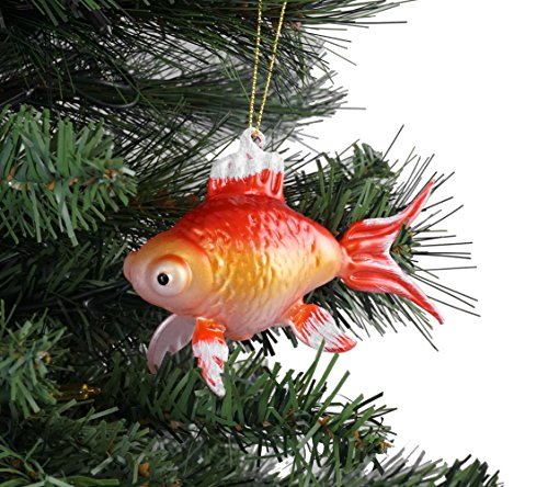 Creative Co-op Oriental Goldfish Hanging Christmas Ornament