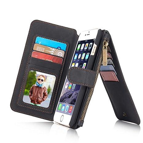 Amazon.com: aroko iPhone 6 Plus Wallet Case, piel vacuna ...