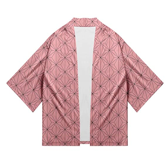 Abluewhale Unisex 3D Print Demon Slayer Kimetsu No Yaiba Kimono Cosplay Cardigan Jacket Coat