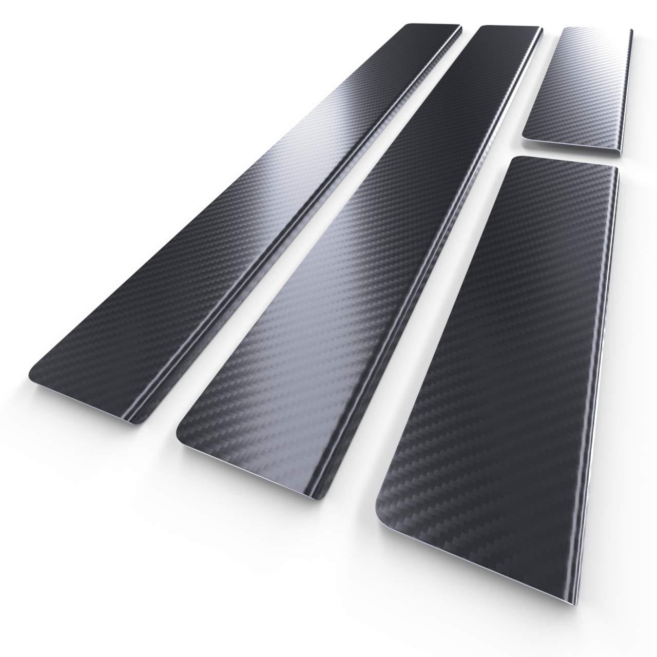 Protectores de acero para umbral de coche 5902538698238 kit de 4 piezas l/ámina de carbono