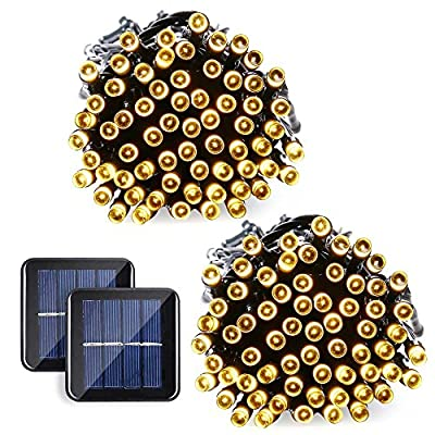 Qedertek Solar String Lights, 39ft 100 LED 8 Mode July 4th Celebrating Decorative Lighting for Independence Day, Patio, Lawn, Garden, Wedding, Party, Home and Holiday Decorations