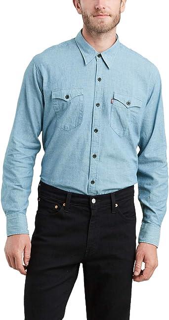 Camisa Levis Barstow Light Denim Hombre M Azul: Amazon.es: Ropa y accesorios