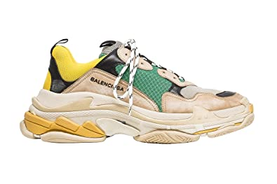 39de1b84974ca Image Unavailable. BestVIP Balenciaga Triple S Sneakers Beige Green Yellow
