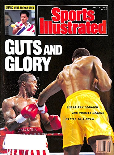 Sports Illustrated Magazine - Sugar Ray Leonard and Thomas Hearns - Chang Wins French Open - Baltimore Orioles (June 19, 1989)