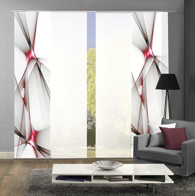 Home Fashion Set-Angebot Flächenvorhang KINGFIELD | wahlweise 3er-, 4er-, 5er oder 6er-Set in blau, rot oder apfelgrün | best