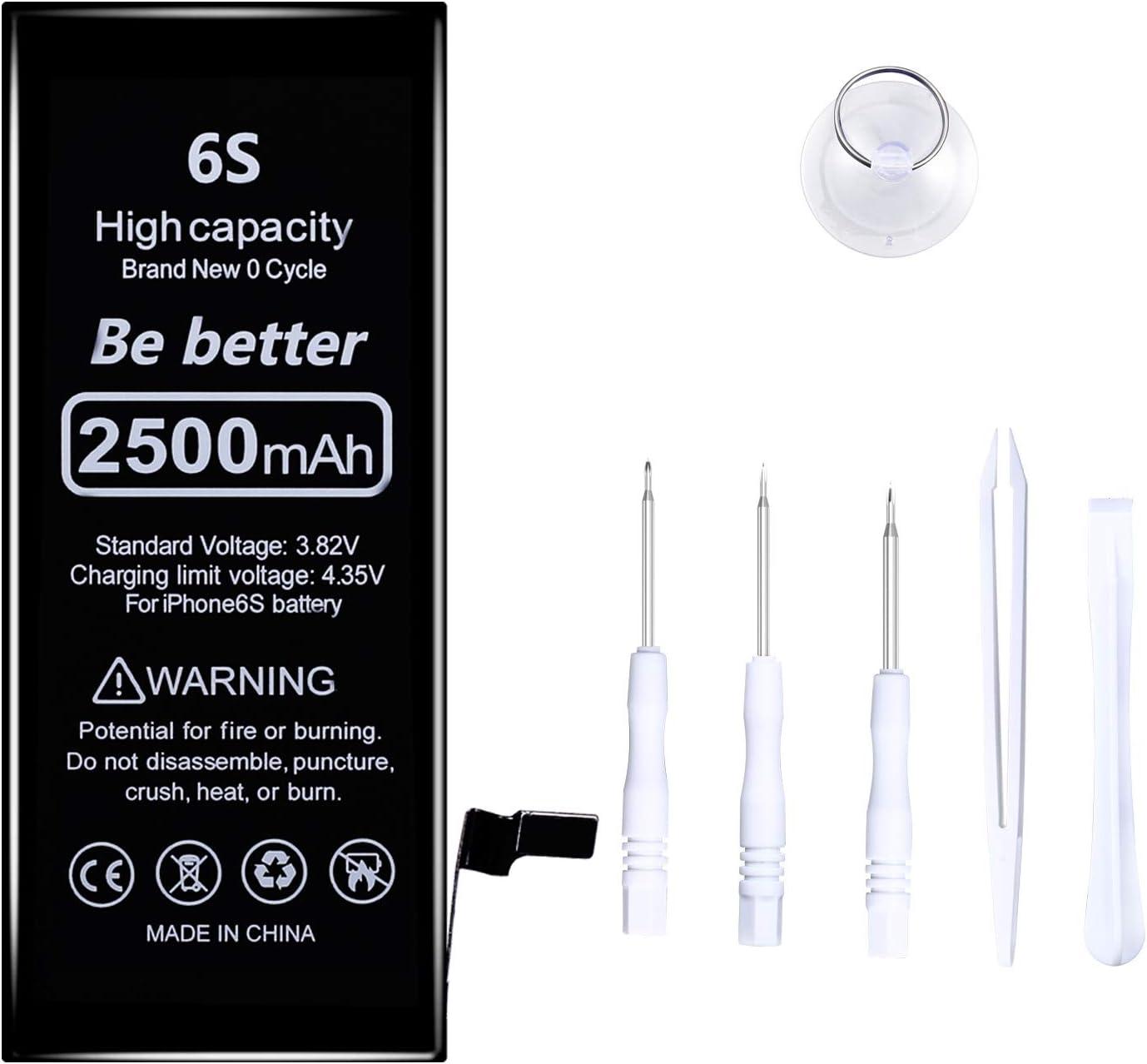 Batería de 2500 mAh compatible con el ciclo del iPhone 6s