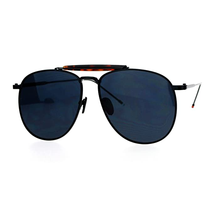 5822350d4c679 Designer Aviator Sunglasses Vintage Top Bar Round Square Fashion Black Tort