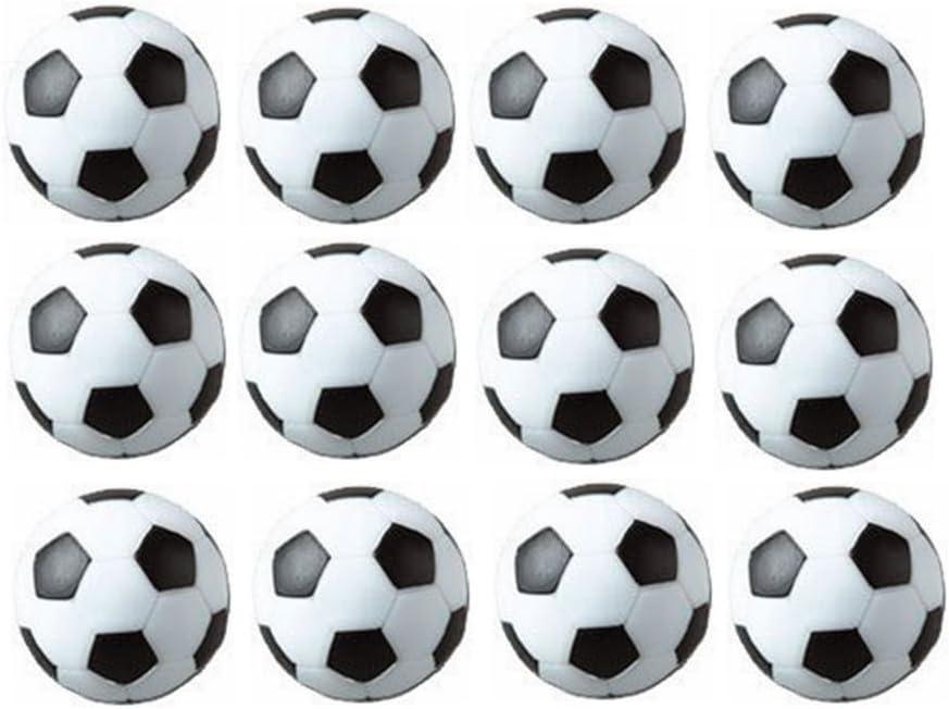Mesa Fútbol foos Balls Replacements Mini Negro Y Blanco Balones de ...