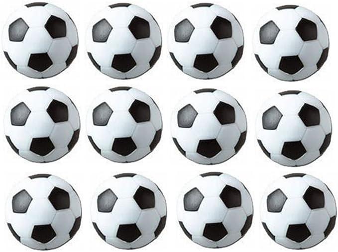 SUNREEK - Pelotas de fútbol de mesa (12 unidades), color blanco y negro: Amazon.es: Juguetes y juegos