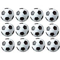 Calcio Balilla Foos Balls Replacements Mini Nero e Bianco palloni da calcio–set di 12(Nero e Bianco)