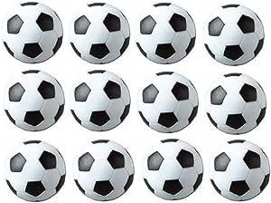 SUNREEK - Pelotas de fútbol de mesa (12 unidades), color blanco y ...