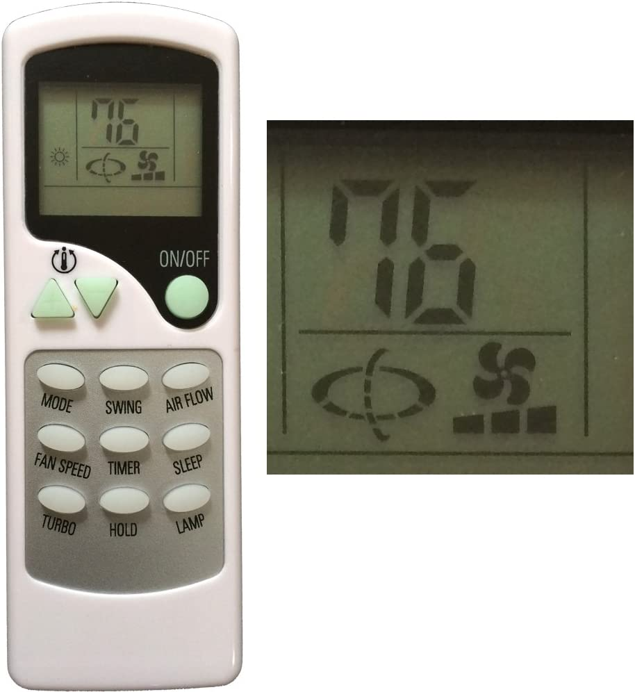 Replacement for QUIETSIDE Air Conditioner Remote Control ZHF//LT-01