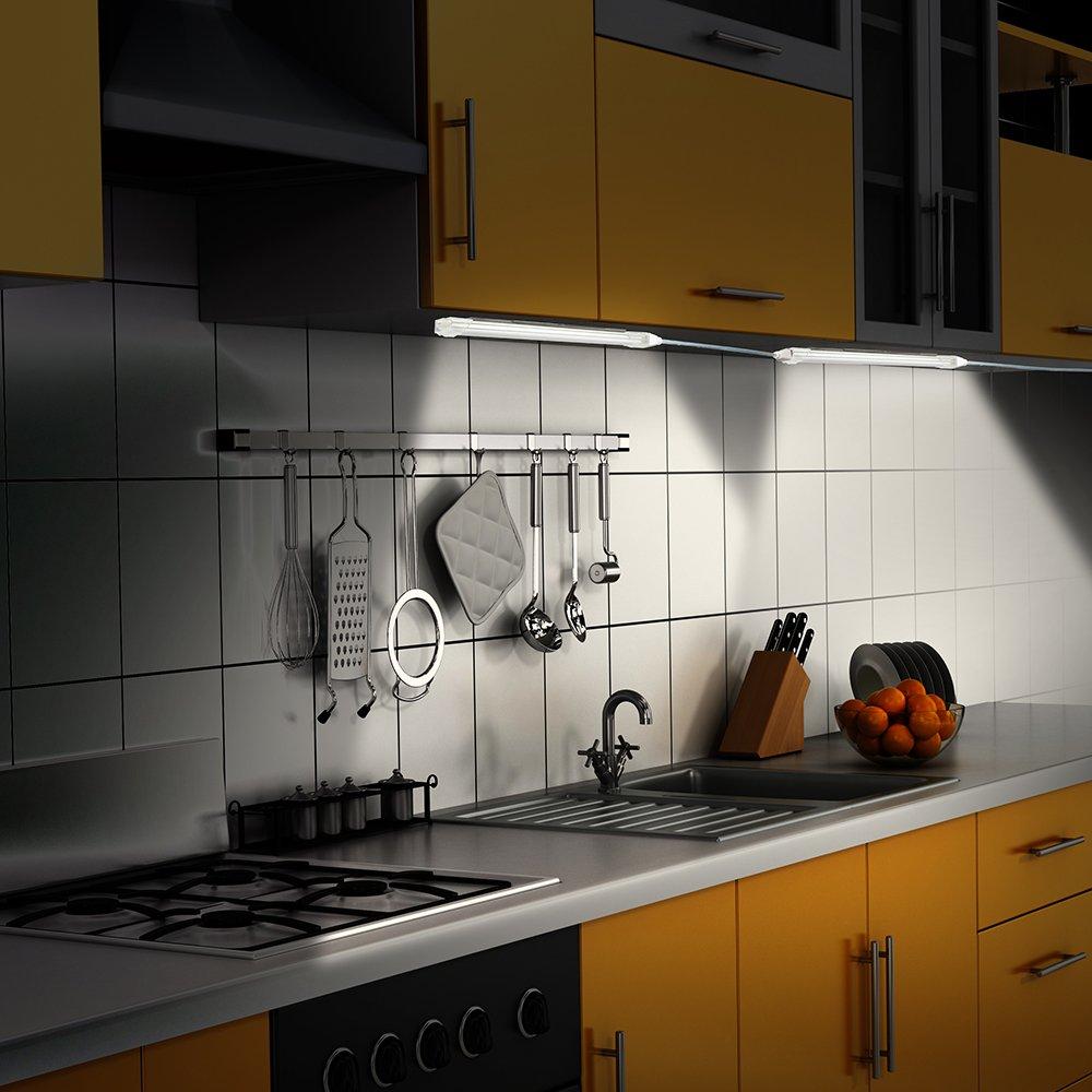 Led Lichtleiste Küche, LED Unterbauleuchte Schrankleuchte 5 ...