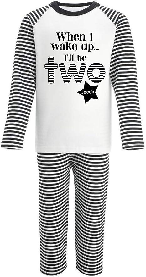 Personalised When I wake up Ill Be Two Birthday Shorts Pyjamas Second Birthday Gifts Pyjamas Prince