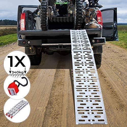 2x Auffahrrampe Auffahrschiene Klappbar Anhängerrampe max 680kg Rampe Laderampe
