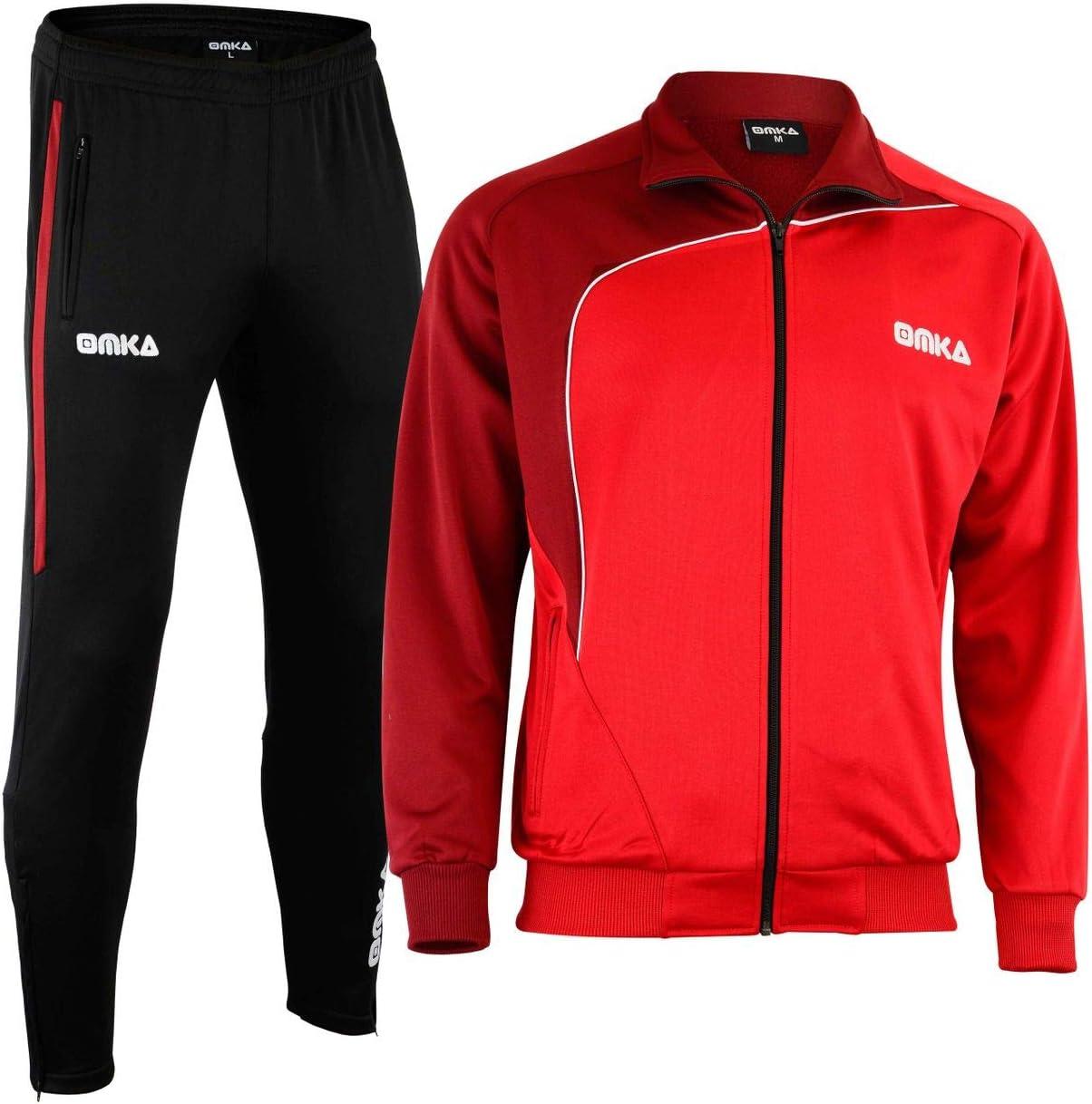 Sportanzug OMKA Trainingsanzug Jogginganzug Freizeitanzug  Schwarz