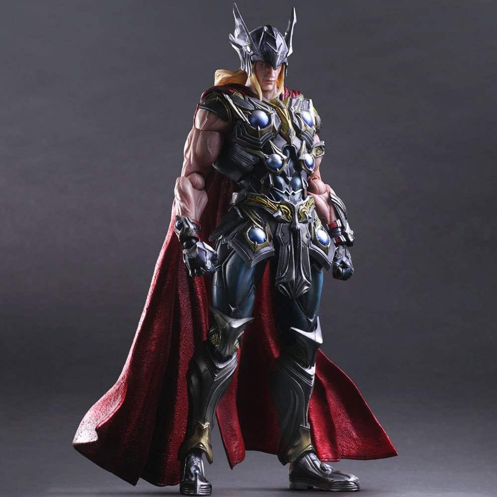 BINGFENG Thor Action-Figur Modell Bewegliche Statue Figurine Alltag Hauptdekoration Sammlerkinderspielzeug Geschenk 26CM