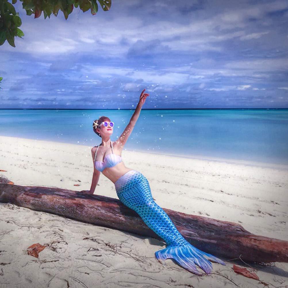 XIANGHUi 5pcs Cola de Sirena Traje de ba/ño Bikini Conjuntos Las Muchachas Cosplay