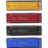 yunso 1pcs 10agujeros armónica de Abeja, 40tono clave de C Armónica–mejor regalo para niños–color al azar