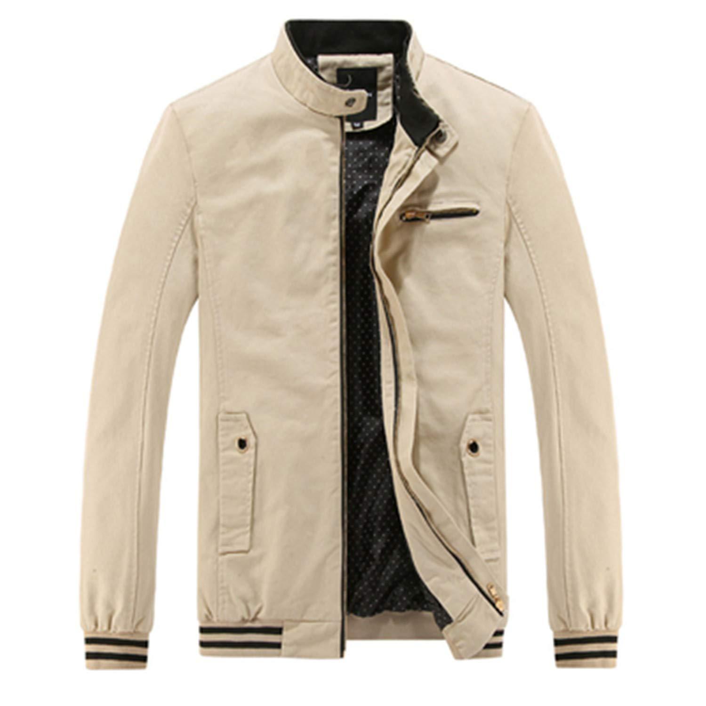 Amazon.com: 100% Cotton Casual Men Jackets Coats Fashion ...