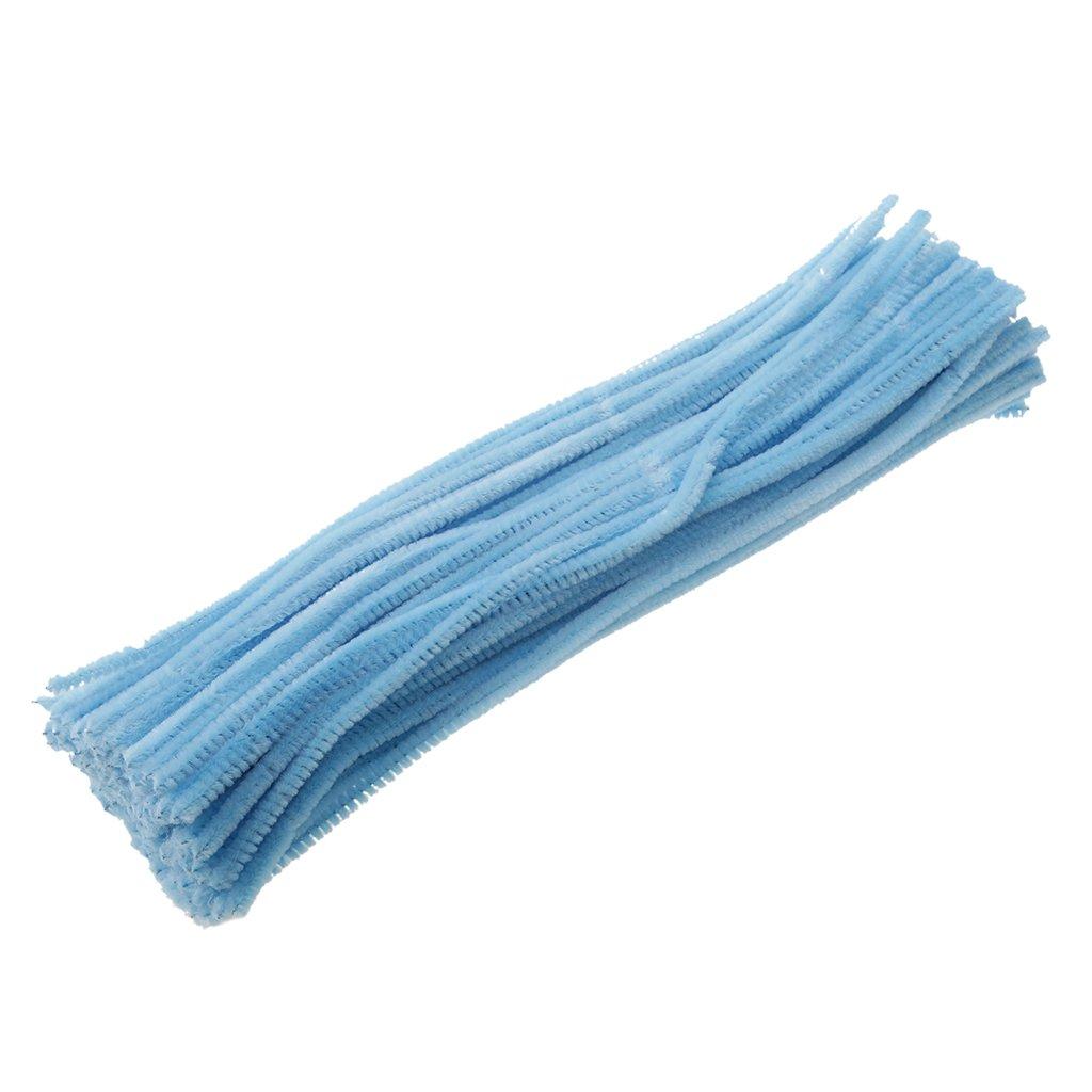 Sharplace 100pcs Bunte Pfeifenreiniger für DIY Handwerk 6mm x 30cm - Blau