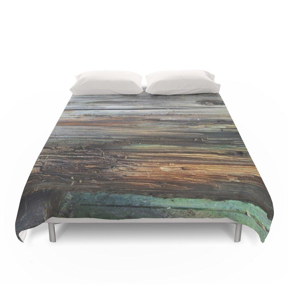 Society6 Wood Duvet Covers Full: 79'' x 79''