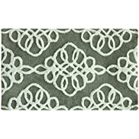 Bacova Guild Marley Bath Accent Rug, Gray/White