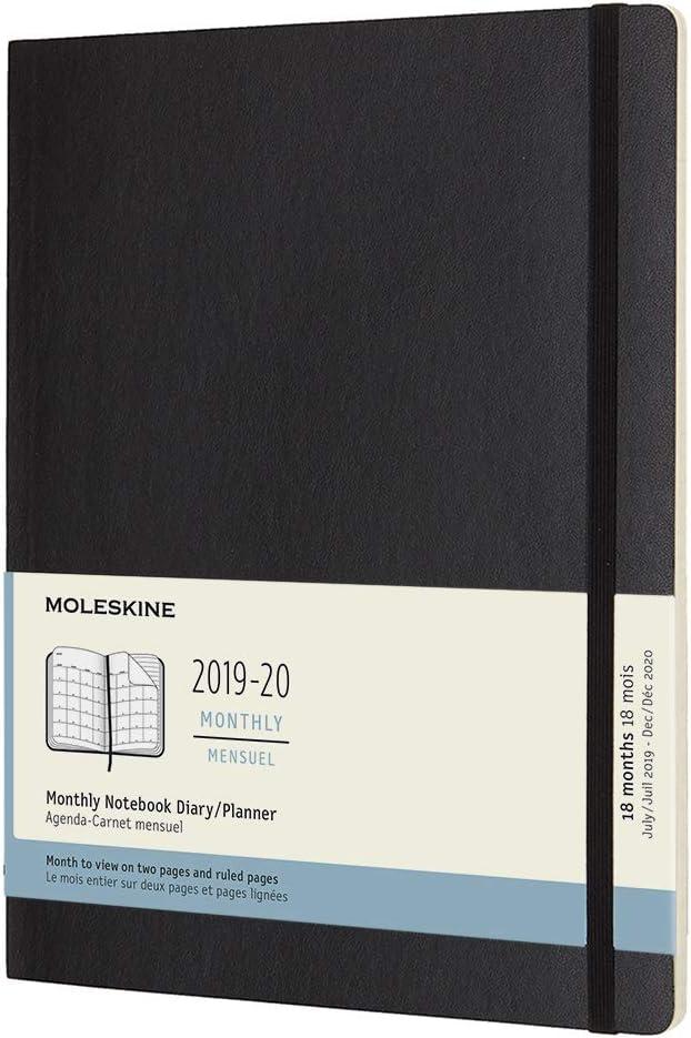 Moleskine - Agenda Mensual de 18 Meses 2019/2020, Calendario ...