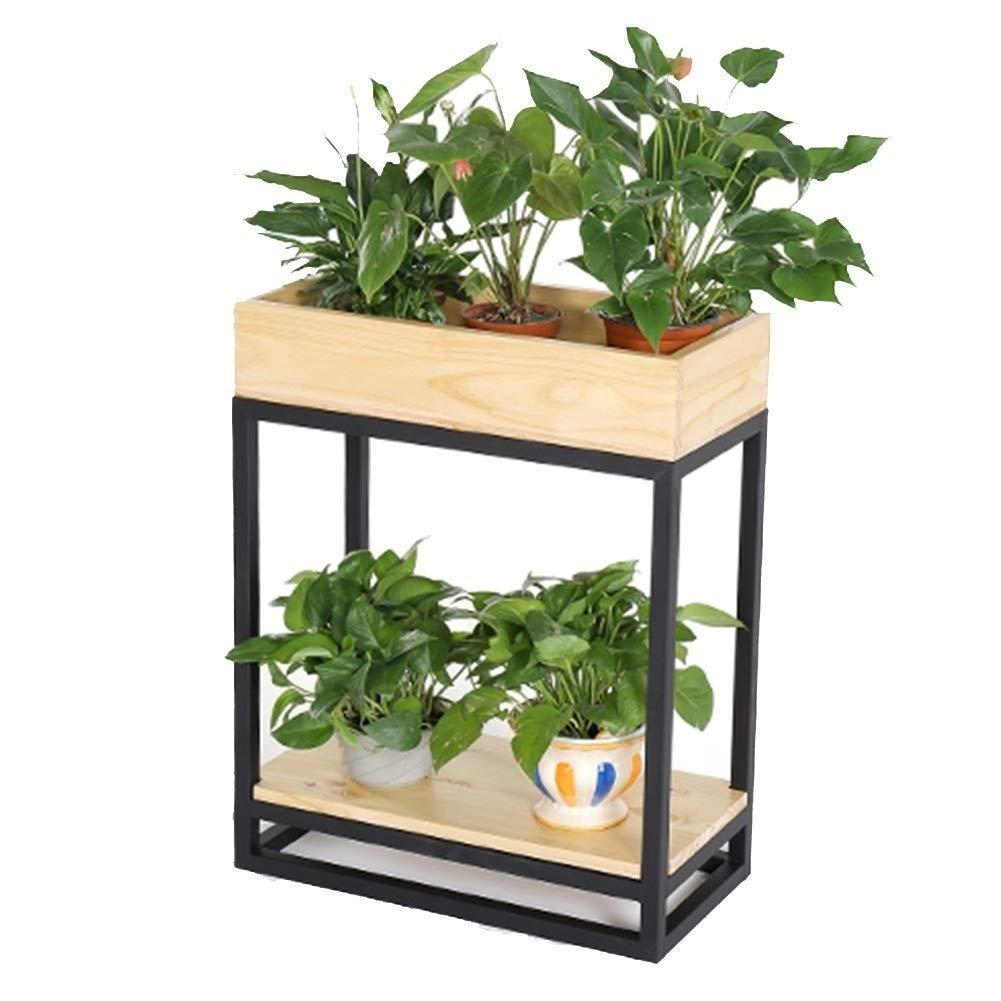 Indian Decor 23108 Metal Indoor And Outdoor Floor Standing Plant Garden Decoration Simple Style Flower Pot Holder 60x30x65 Cm Black Amazon In Garden Outdoors