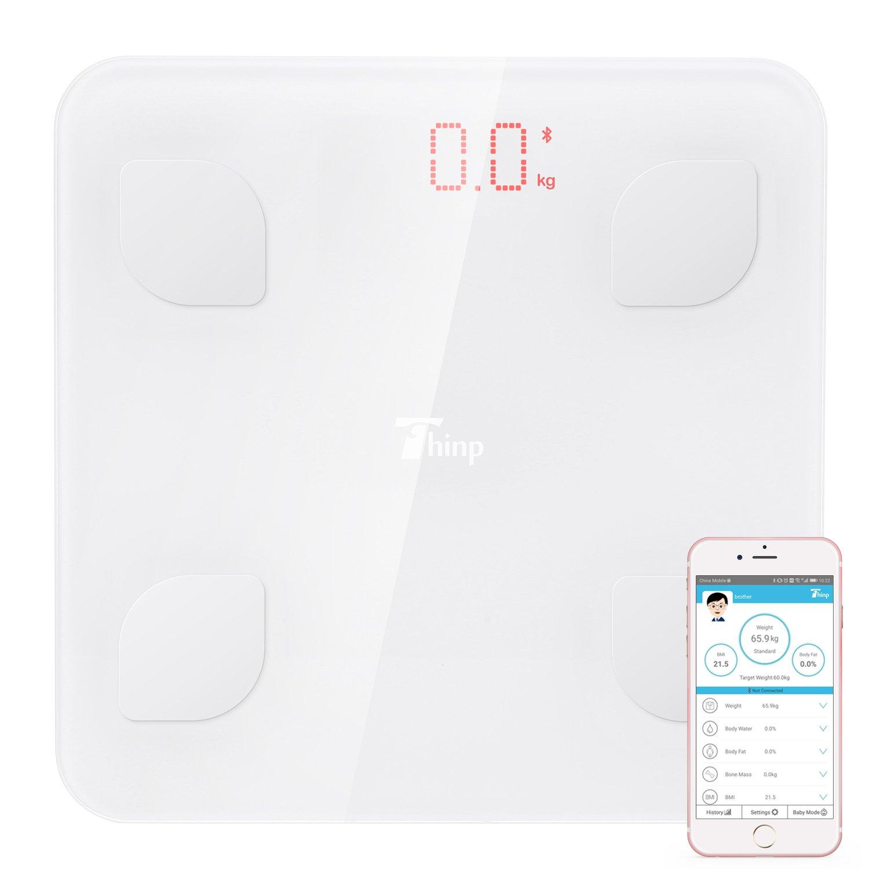 Thinp Báscula de Baño Digital con Análisis Grasa Corporal Electrónico Control por APP y Bluetooth, Garantía de 2 Años: Amazon.es: Salud y cuidado personal