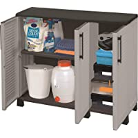 armario de mediana altura en polipropileno, material reciclable y ecológico sostenible, está equipado con bisagras de…