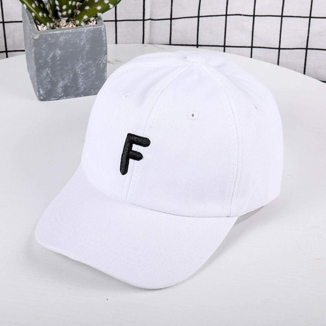 Unisex Women Lady Man Vintage Letter F Twill Cotton Baseball Vintage Adjustable for Hiking Camping Traveling Army Caps Polo Style Military Hats Classic ...